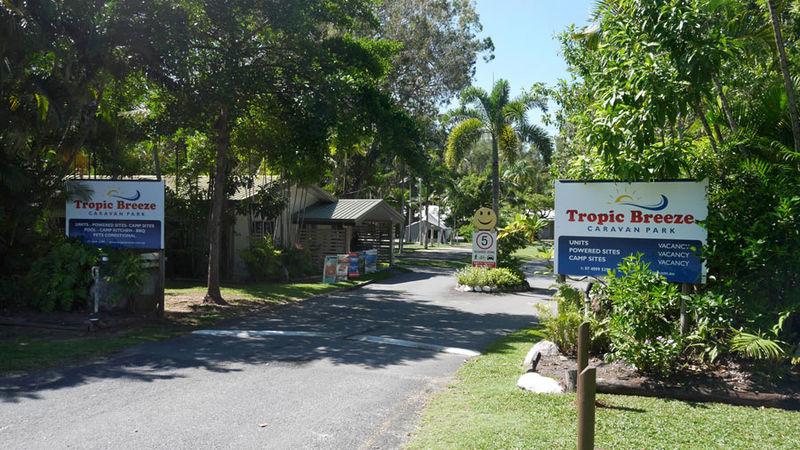 facilities rates tropic breeze port douglas caravan park. Black Bedroom Furniture Sets. Home Design Ideas